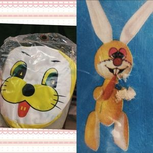 """24"""" inflatable vintage Easter bunny."""